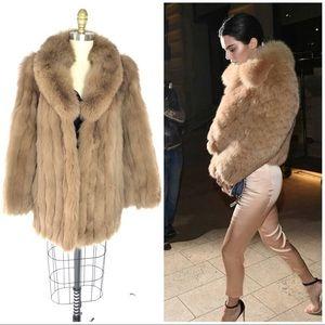 Vintage Saga Fox Brown Fox Fur Coat ♻️